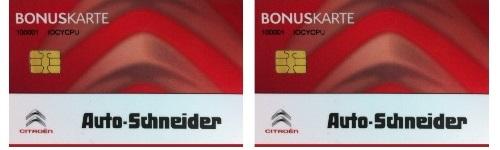 Bonuskarte Autohaus Schneider Heilbronn